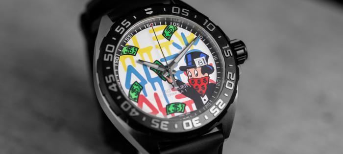 艺术碰撞时间: TAG Heuer泰格豪雅携手先锋艺术家 Alec Monopoly发布两款腕表新作