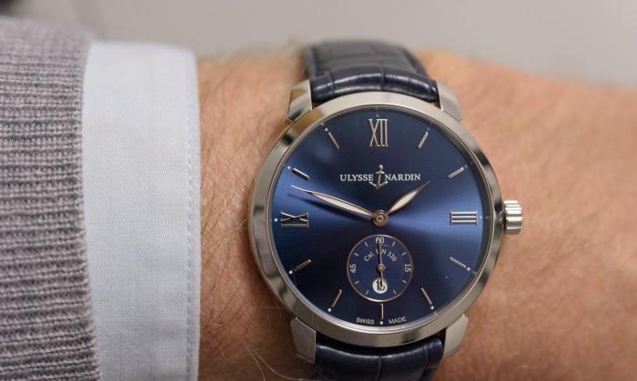 雅典Classico鎏金系列蓝面精钢腕表——表界美男子!