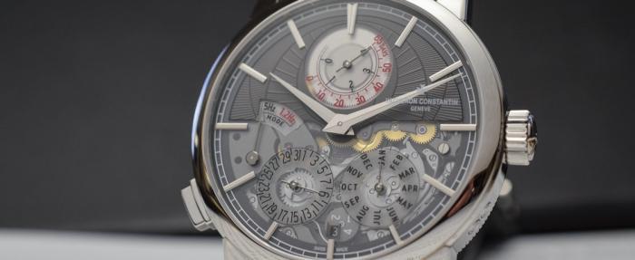 真新鲜,机械表还能待机?——江诗丹顿Traditionnelle系列双重芯率万年历腕表