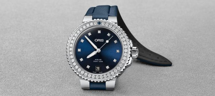 深蓝之约,绽放真我女性光芒——豪利时 Aquis钻石日历腕表献礼女王节,为追求现代时尚与勇做真我的女性增添亮色