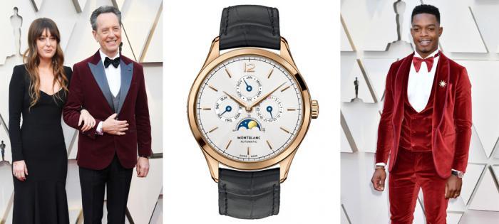 著名演员理查德•格兰特和斯蒂芬•詹姆斯佩戴万宝龙腕表、袖扣 亮相2019第91届奥斯卡颁奖典礼