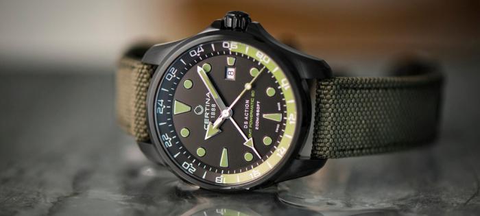 雪铁纳DS Action GMT Automatic 腕表:绿贝雷登场