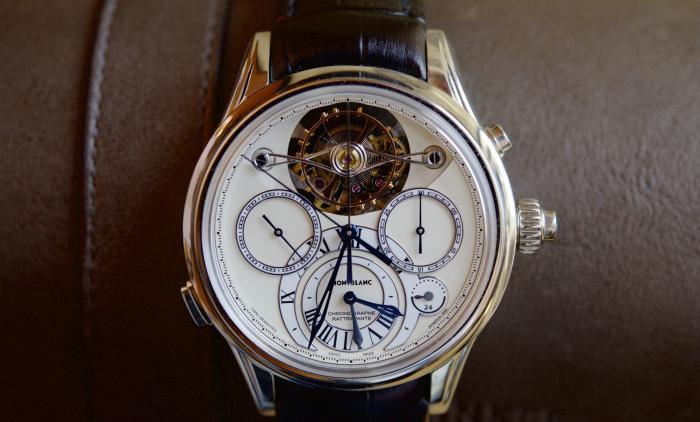 万宝龙维莱尔1858系列外置框架陀飞轮追针计时腕表——复杂功能集大成之作!
