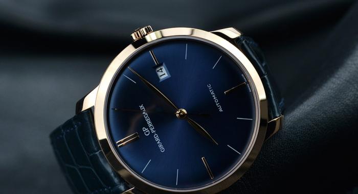 芝柏1966蓝面红金款手表——优雅的蓝色臻品!