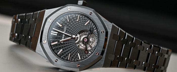 戴上它,你就是全村最亮的仔——爱彼皇家橡树系列超薄陀飞轮陶瓷黑腕表