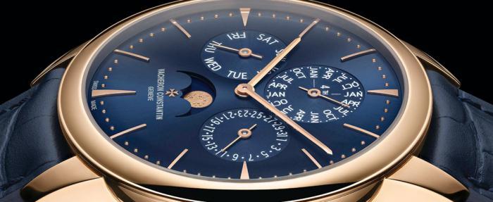 江诗丹顿发布Patrimony传承系列蓝色超薄万年历腕表