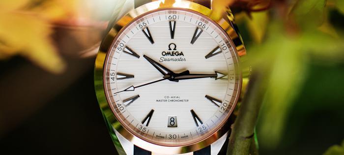 埃迪·雷德梅尼配搭欧米茄尊霸年历腕表和海马系列Aqua Terra腕表,品鉴古道茶风