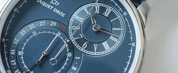 最斯文的计时码表——雅克德罗大秒针系列单钮计时码表
