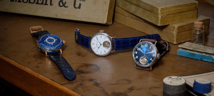 HERITAGE经典陀飞轮电光蓝腕表:H. MOSER & CIE.亨利慕时悠久传承的现代象征