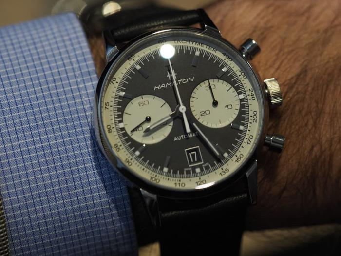 """汉米尔顿Intra-Matic 68计时腕表——复古的""""反转熊猫""""!"""