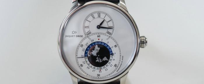优雅旅行者——雅克德罗大秒针系列双时区腕表