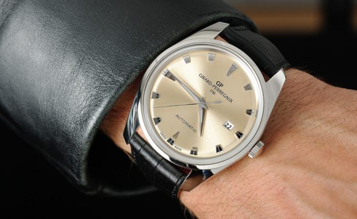 芝柏Gyromatic系列1957腕表——重现复古香槟色!