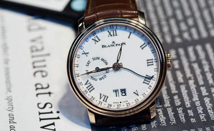 宝珀Villeret经典系列全新双窗口大日历视窗腕表——无处不优雅!