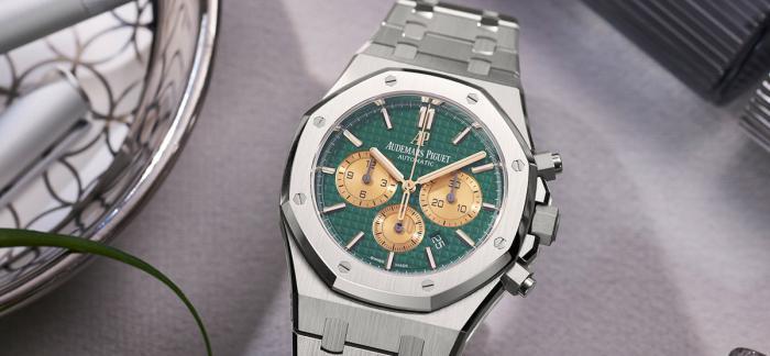 独家点评爱彼(Audemars Piguet) 皇家橡树自动计时码表The Hour Glass纪念版