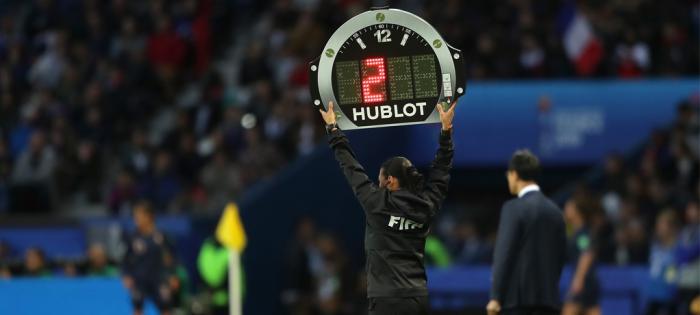 HUBLOT宇舶表荣耀担任2019法国女足世界杯官方计时