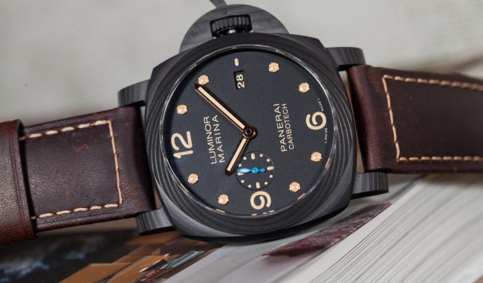 沛纳海luminor Marina 1950系列碳纤维腕表——独特美丽的纹理!