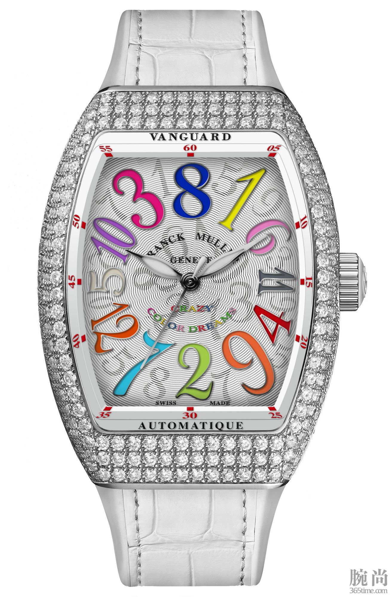 Vanguard Crazy Hours Lady in Stainless Steel with diamonds (2).jpg