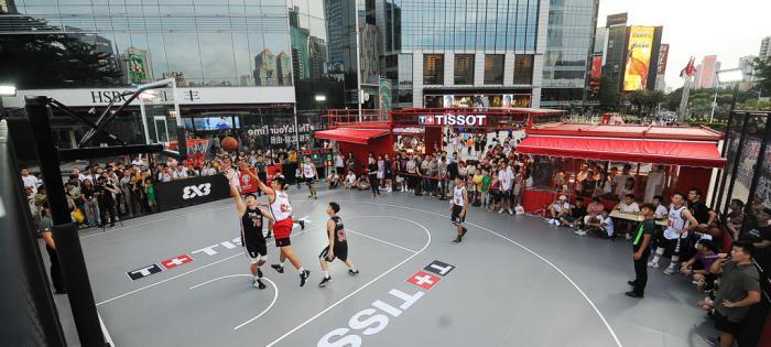 这一刻 该你上场 天梭FIBA城市冠军3X3篮球巡展广州首站火爆开启