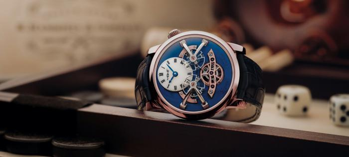 MB&F 推出 Legacy Machine No.2 Red Gold Blue 蓝色表盘双摆轮腕表
