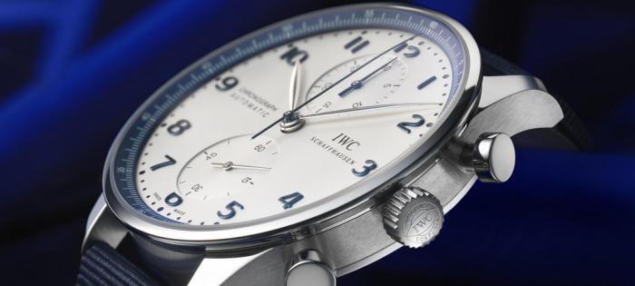 IWC与宝齐莱表店合作推出全新葡萄牙计时腕表宝齐莱蓝色特别限量版