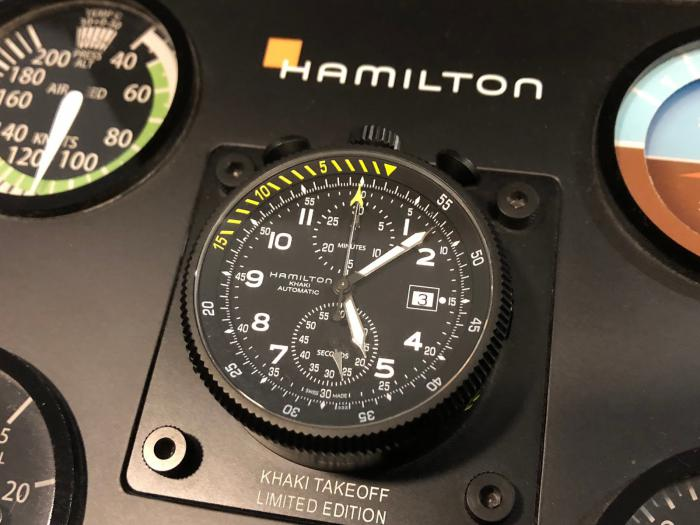 汉米尔顿卡其启航自动计时限量版H76786733——炫酷的牛头!