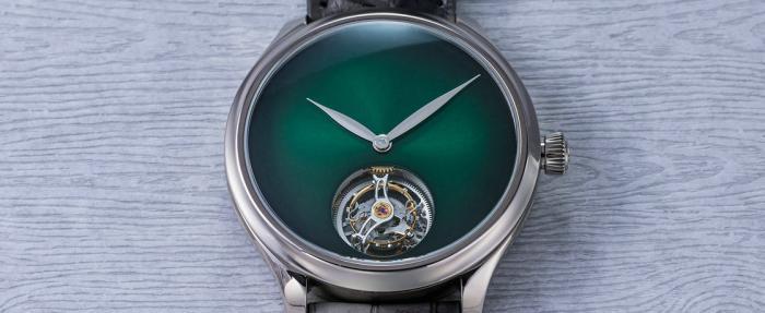 放肆与克制——亨利慕时勇创者系列Concept陀飞轮宇宙绿腕表