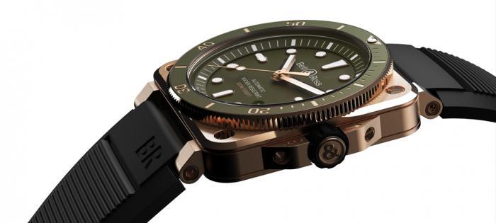 独一无二的 BR03-92 DIVER 绿色青铜版 潜水腕表发布