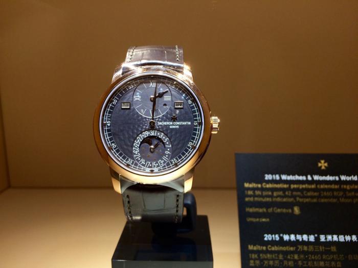 江诗丹顿传承系列阁楼工匠大师万年历三针一线腕表——独一无二的复古韵味!