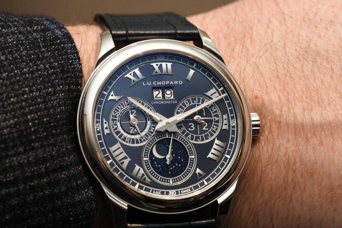 萧邦L.U.C系列Lunar One天文月相万年历限量版腕表——清晰易读的钟表杰作!