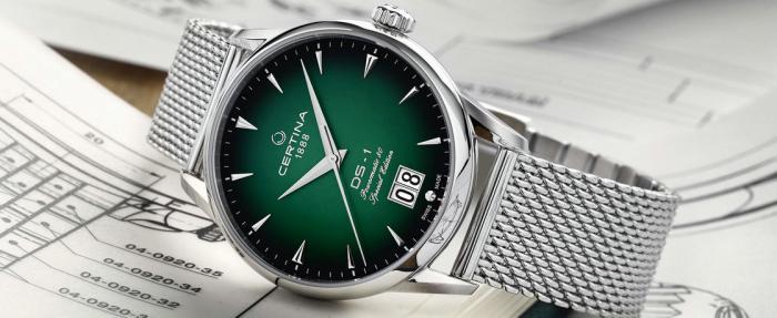 绿色渐晕,晕开60年时光——雪铁纳DS-1大日历60周年纪念版腕表
