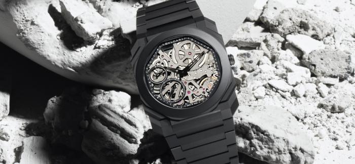 炫黑轻薄、酷雅有型的BVLGARI宝格丽Octo Finissimo黑陶瓷腕表