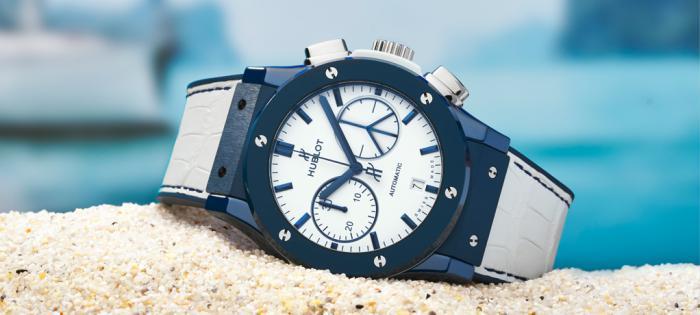 HUBLOT宇舶表呈献多款以地中海岛屿为灵感的蓝色腕表,呈现令人向往的夏日时光