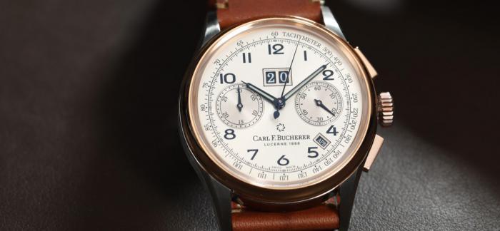 重返1950的古朴雅致宝齐莱传承系列年历双盘计时秒表