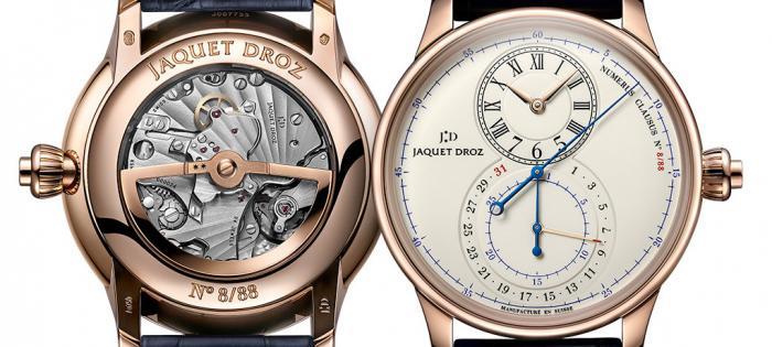 雅克德罗(JAQUET DROZ)呈献首款配备计时码表的大秒针(GRANDE SECONDE)腕表