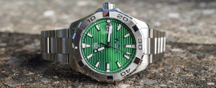 泰格豪雅Aquaracer竞潜系列绿盘腕表------竞潜也绿了