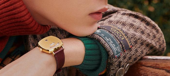 【GUCCI腕表首饰】肖战佩戴Gucci Grip系列腕表亮相米兰时装周