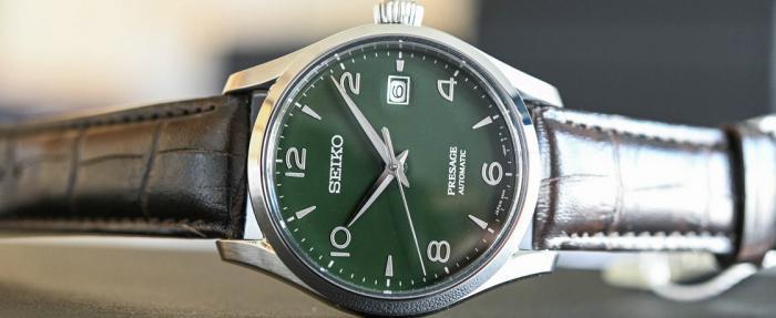 精工Presage系列绿色珐琅SPB111J1腕表------那一抹深沉的绿