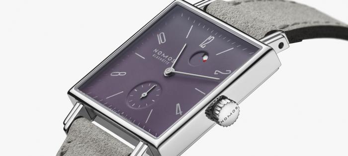 Nomos Glashütte 推出Tetra Plum 紫色表盘腕表