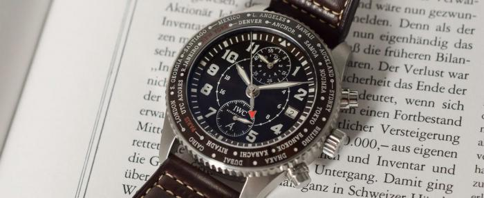 "万国飞行员系列""80 Years Flight To New York"" Timezoner Chronograph腕表------致敬小王子之父"