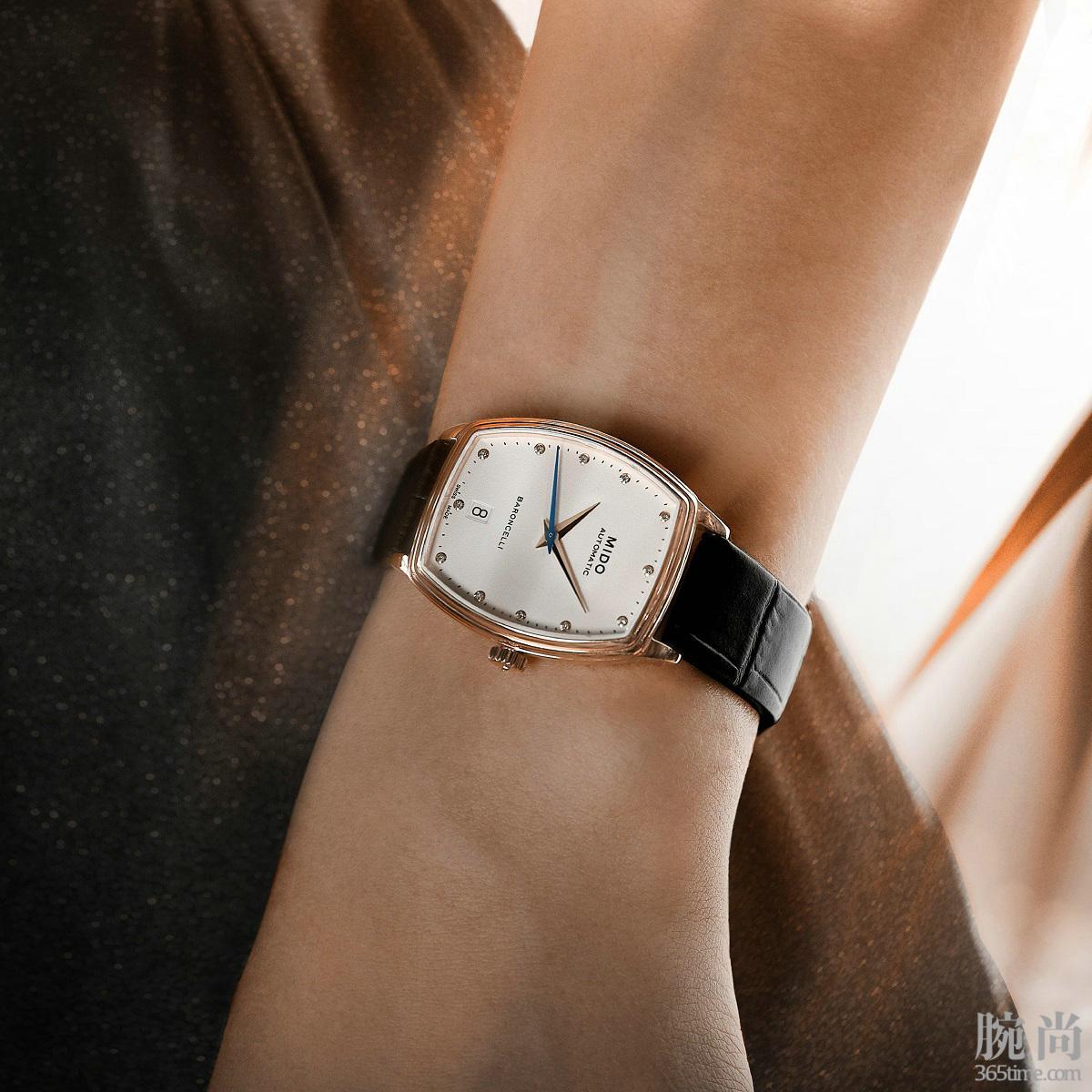 瑞士美度表BARONCELLI贝伦赛丽系列酒桶形真钻女士腕表M041.307.36.016.00_公关图1.jpg