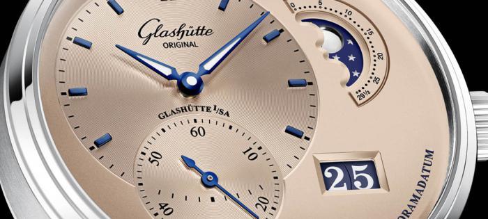 格拉苏蒂原创偏心月相腕表新增限量古铜金表款