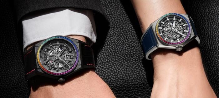 真力时推出Defy Classic Rainbow限量版腕表——缤纷色彩,悦动腕间
