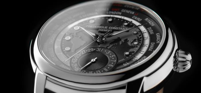 康斯登发布全新深灰色款百年典雅世界时区腕表