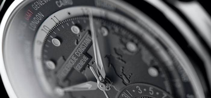 康斯登全新深灰色款百年典雅世界时区腕表上市