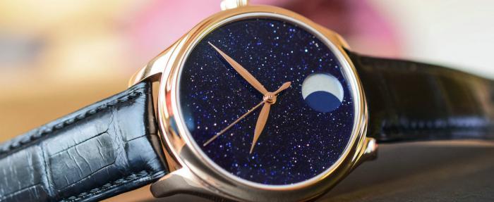 亨利慕时勇创者系列Perpetual Moon Concept砂金石腕表------敢与星空比美