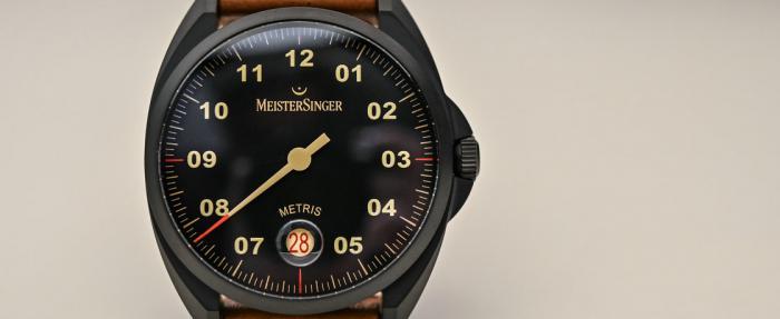MeisterSinger Metris系列Black Line腕表------闲散时该戴的表