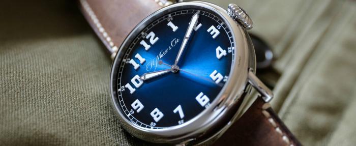 亨利慕时Heritage经典系列Centre Seconds电光蓝腕表------等等党的胜利