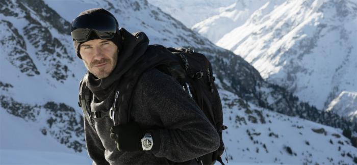 帝舵表与大卫‧贝克汉姆和克杰尔斯蒂‧布阿斯一起征服雪山