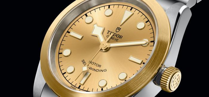 圣诞购表推荐之帝舵碧湾型32黄金钢款腕表