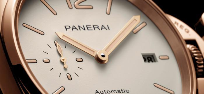 沛纳海发布两枚LUMINOR DUE GOLDTECH™庐米诺杜尔系列红金腕表
